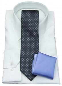 Seiden-Krawatte mit Einstecktuch